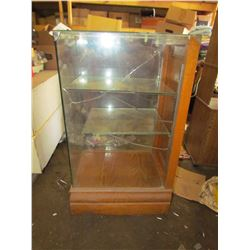 "GLASS DISPLAY CABINET (17""W X 41""T)"