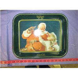 LOT OF THREE SANTA COCA-COLA TRAYS