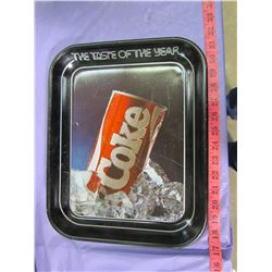 THREE COCA-COLA TRAYS