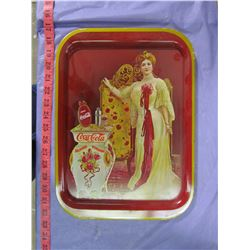 TWO COCA-COLA TRAYS (LADY)