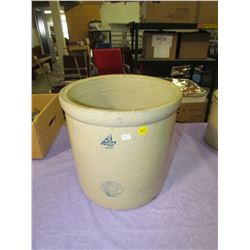 FOUR GALLON CROCK (SLEEPING INDIAN STAMP)