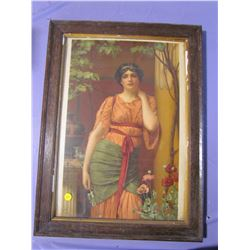 "PICTURE AND FRAME (LADY) *17"" X 23""*"