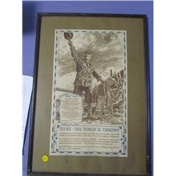 "IN FLANDERS FIELD (POSTER IN FRAME) *16"" X 22""*"