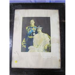 "PICTURE AND FRAME (GEORGE VI-1937) *25"" X 30""*"