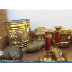 LOT OF BRASS AND BRASS BELL