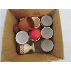 LOT OF 9 EGG CUPS