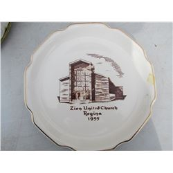 LOT OF 9 CHURCH PLATES
