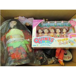 BOX OF ASSORTED DOLLS