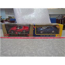 TWO DIE CAST REPLICA CARS (DODGE VIPER R/T 10, 1999 PONTIAC FIREBIRD)