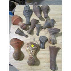 LOT OF 13 ASSORTED CAST IRON LEGS