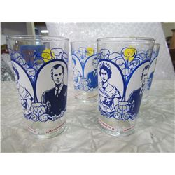 LOT OF 4 ROYALTY GLASSES