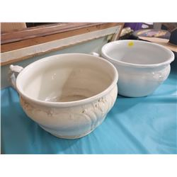 LOT OF 2 CHAMBER POTS