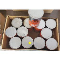 12 FULL 1 LITRE CO-OP OIL CANS