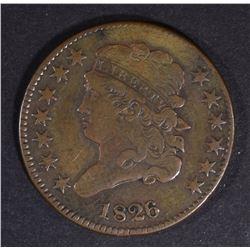 1826 HALF CENT VF