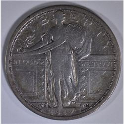 1917-S TYPE 1 STANDING LIBERTY QUARTER VF