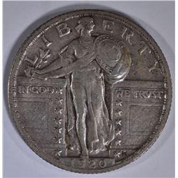 1920 STANDING LIBERTY QUARTER XF/AU
