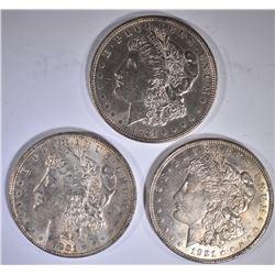 3-1921 CH BU MORGAN DOLLARS