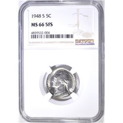 1948-S JEFFERSON NICKEL NGC MS 66 5FS