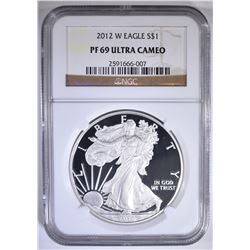 2012-W SILVER EAGLE, NGC PF-69 ULTRA CAMEO
