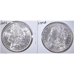 1883-O VAM 4 & 1884-O VAM 6 BU MORGAN DOLLARS
