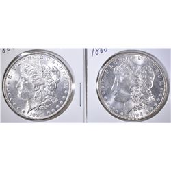 1888 CH BU & 1889 BU MORGAN DOLLARS