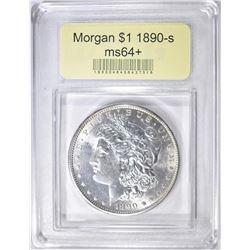 1890-S MORGAN DOLLAR  USCG CH/GEM BU