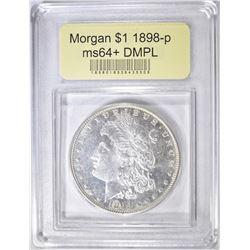 1898 MORGAN DOLLAR  USCG CH/GEM BU DMPL