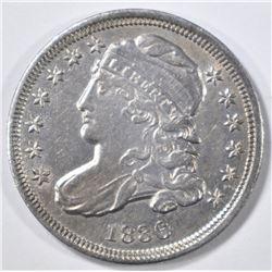 1836 BUST DIME CH AU