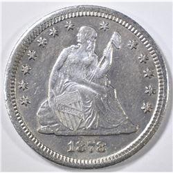 1878-CC SEATED LIBERTY QUARTER AU/BU