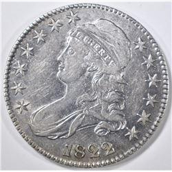1822 BUST HALF DOLLAR AU