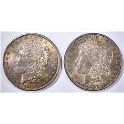 1888-O & 1886 MORGAN DOLLARS CH BU COLOR