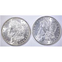 1884-O & 87 MORGAN DOLLARS CH BU