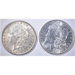 1889 & 87 MORGAN DOLLARS CH BU