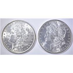 1883-O & 84-O MORGAN DOLLARS CH BU