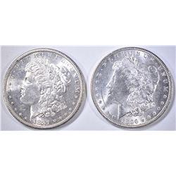 1881-S & 96 MORGAN DOLLARS CH BU