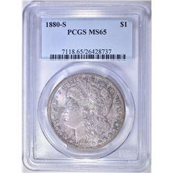 1880-S MORGAN DOLLAR  PCGS MS-65