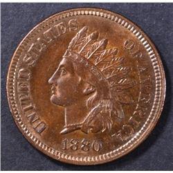 1880 INDIAN CENT GEM BU RB