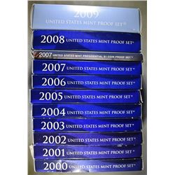 """U.S. PROOF SETS FROM THE 2000""""S"""