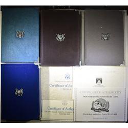 1987, 89, 91 & 93 U.S. PRESTIGE PROOF SETS