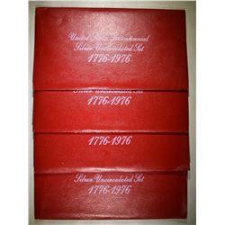 4-1976 3-Pcs 40% SILVER UNC BICENTENNIAL SETS