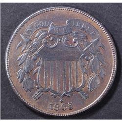 1865 2 CENT PIECE  CH UNC