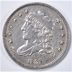 1835 HALF DIME  AU/UNC