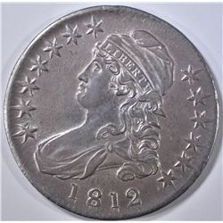 1812 BUST HALF DOLLAR   NICE UNC   OLD CLEANING