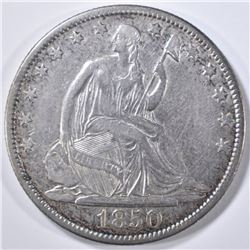 1850-O SEATED LIBERTY HALF DOLLAR  XF/AU