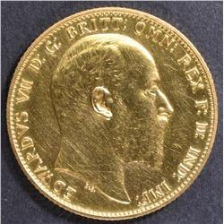 1902 BRITISH GOLD SOVEREIGN  CH/GEM PROOF