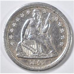 1841 SEATED LIBERTY DIME  BU