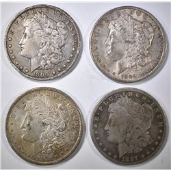 4-CIRC MORGAN DOLLARS: