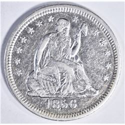 1856 O SEATED QUARTER AU