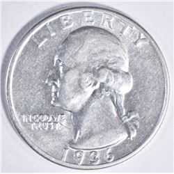 1936 D WASHINGTON QUARTER AU/BU