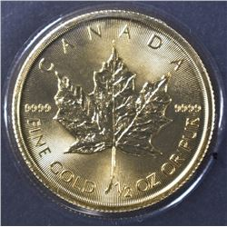 2015 1/2 OUNCE CANADA GOLD MAPLE LEAF